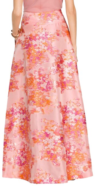 Item - Peach Multi Washed Bouquet Gown Skirt Size 6 (S, 28)
