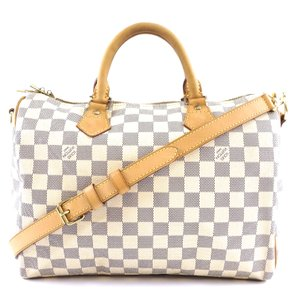 Louis Vuitton Lv Speedy 30 Damier Boston Shoulder Bag