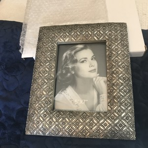 Silver Tile Design Photo Frame