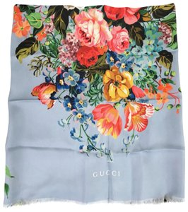 Gucci NEW GUCCI 455946 Josephine Silk Twill Flowers Scarf