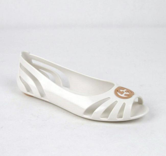 Gucci White Biodegradable Rubber Gg Ballet Flat 31/Us 13 340772 9070 Shoes Gucci White Biodegradable Rubber Gg Ballet Flat 31/Us 13 340772 9070 Shoes Image 1