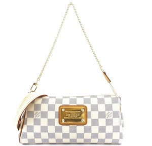 Louis Vuitton Lv Damier Eva Clutch Strap Cross Body Bag