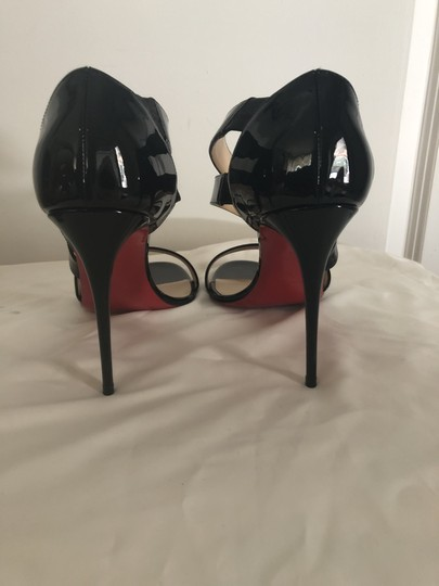 Christian Louboutin Pigalle So Kate Strappy Black Pumps Image 10