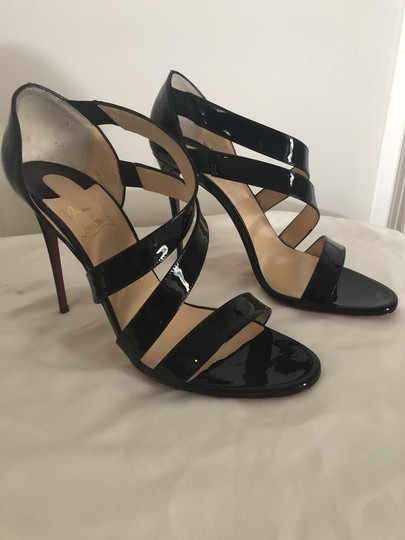 Christian Louboutin Pigalle So Kate Strappy Black Pumps Image 2