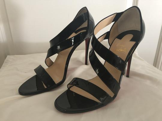 Christian Louboutin Pigalle So Kate Strappy Black Pumps Image 3