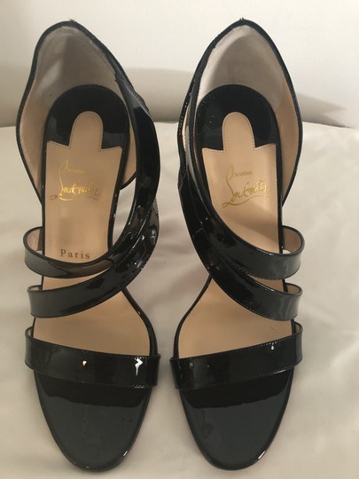 Christian Louboutin Pigalle So Kate Strappy Black Pumps Image 4