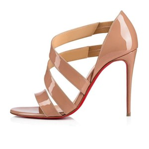 Christian Louboutin Pigalle Stiletto Classic Ankle Strap Drama nude Pumps