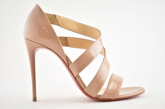 Christian Louboutin Pigalle Stiletto Classic Ankle Strap Drama nude Pumps Image 1