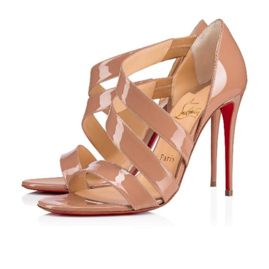 Christian Louboutin Pigalle Stiletto Classic Ankle Strap Drama nude Pumps Image 2