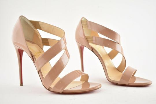 Christian Louboutin Pigalle Stiletto Classic Ankle Strap Drama nude Pumps Image 3