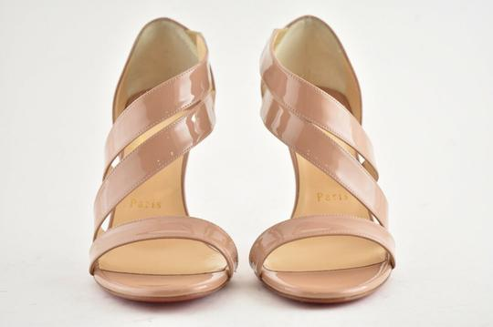 Christian Louboutin Pigalle Stiletto Classic Ankle Strap Drama nude Pumps Image 4