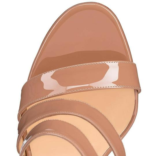 Christian Louboutin Pigalle Stiletto Classic Ankle Strap Drama nude Pumps Image 5