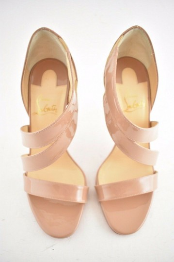 Christian Louboutin Pigalle Stiletto Classic Ankle Strap Drama nude Pumps Image 6