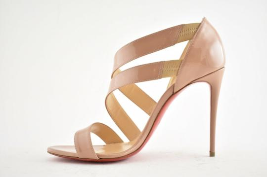 Christian Louboutin Pigalle Stiletto Classic Ankle Strap Drama nude Pumps Image 7