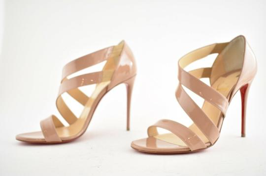 Christian Louboutin Pigalle Stiletto Classic Ankle Strap Drama nude Pumps Image 8