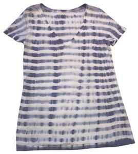 Three Dots T Shirt blue and white