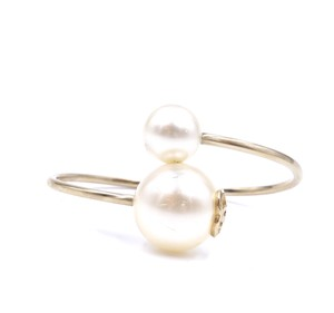 Chanel Rare CC Two Large oversize Pearl Cuff Bangle Bracelet runway celebrity