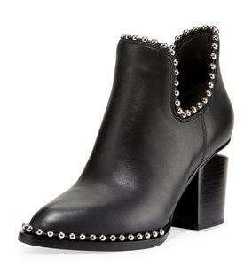 Alexander Wang Gabi Cut-out Studded Hollywood BLACK Boots