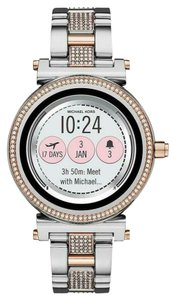 Michael Kors NEW Sofie Silver & Rose Gold Glitz Touchscreen Smartwatch MKT5040
