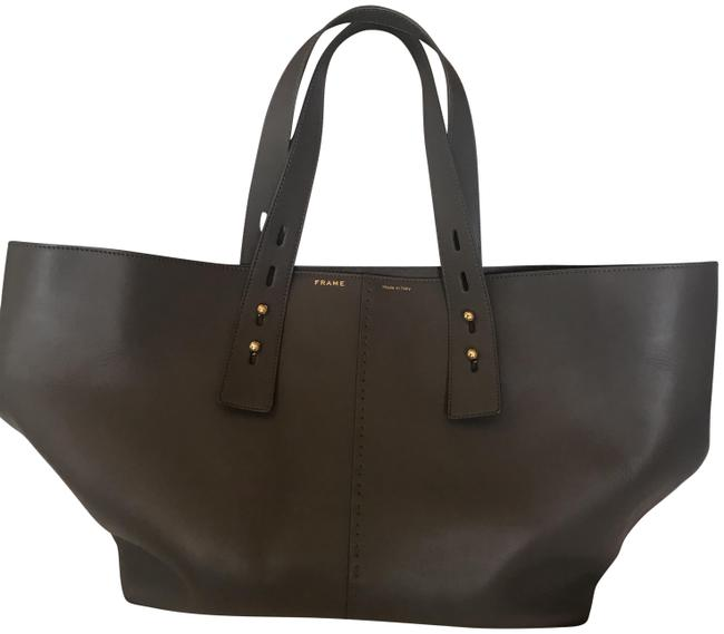 Item - Les Second - Large Grey Leather Tote