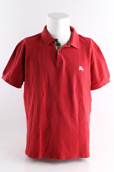 Item - Red Men's Check Placket Polo Shirt