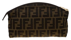 Fendi Canvas Brown Clutch