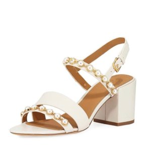 Tory Burch Linen White Sandals