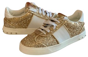 Valentino Gold and White Athletic