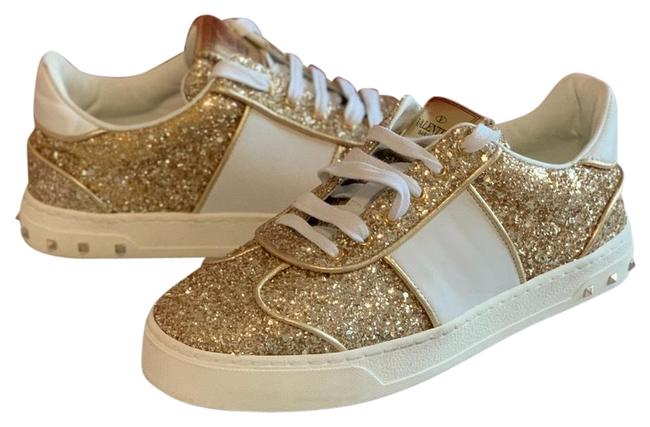 Item - Gold and White New Sneakers Size EU 36.5 (Approx. US 6.5) Regular (M, B)