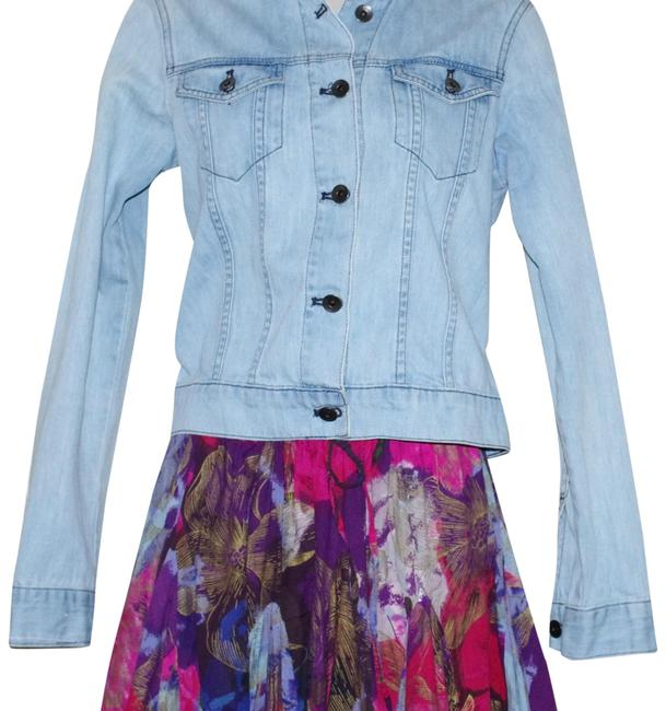 Item - Blue Cotton Women's Cropped Jean Jacket Size 8 (M)