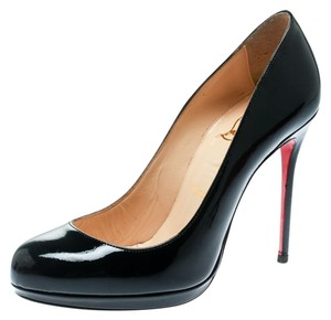 Christian Louboutin Patent Leather Platform Blue Pumps
