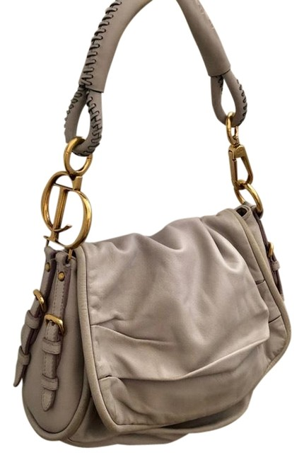 Item - Soft Light Gray Lambskin Leather Shoulder Bag