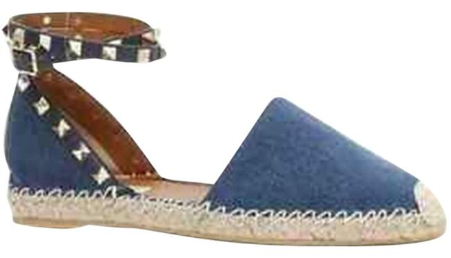 Item - Blue Rockstud Double Studded Denim Espadrille Sandals Flats Size EU 39 (Approx. US 9) Regular (M, B)