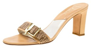 Dior Canvas Buckle Monogram Brown Sandals