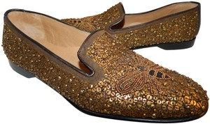 Donald J. Pliner Penda Sequin Beaded Bee Loafers Bronze Flats
