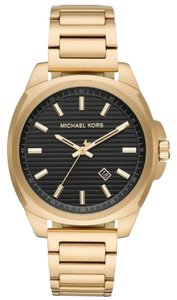 Michael Kors NWT Bryson Three-Hand Gold-Tone Stainless Steel Watch MK8658