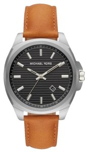 Michael Kors NEW Men's Bryson Three-Hand Brown Leather Watch MK8659