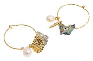 Madewell madewell Collections Mixed and Mach charm hoop earring