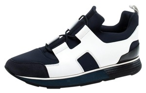 Hermès Leather Rubber Suede Navy Blue Athletic