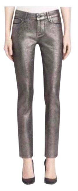 Item - Silver Coated Verdugo Ultra Pewter Crackle Skinny Jeans Size 23 (00, XXS)