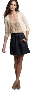 J.Crew Denim Skater Full Pockets Mini Skirt Dark denim