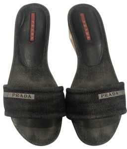 Prada dark gray Sandals