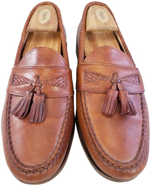 Item - Brown Man Leather Tassels Loafers Slip On Maxfield Formal Shoes Size US 10 Regular (M, B)