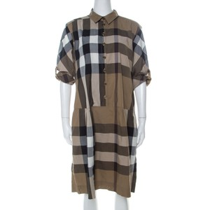 Brown Maxi Dress by Burberry Cotton