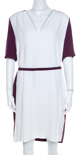 Preload https://img-static.tradesy.com/item/26047274/victoria-victoria-beckham-l-purple-and-white-belted-shift-short-casual-maxi-dress-size-14-l-0-1-650-650.jpg