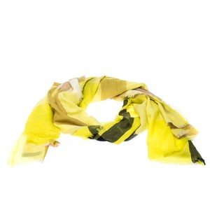 Burberry Yellow Nova Check Cashmere Scarf