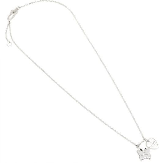 Gucci Trademark Sterling 925 Necklace Heart & Butterfly Image 3