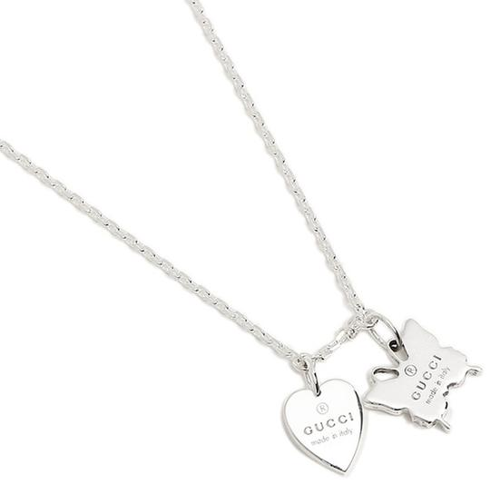 Gucci Trademark Sterling 925 Necklace Heart & Butterfly Image 4