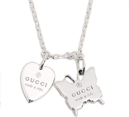 Gucci Trademark Sterling 925 Necklace Heart & Butterfly Image 5