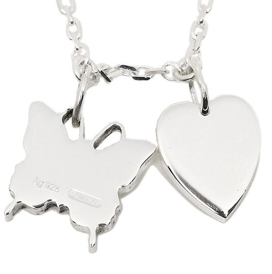 Gucci Trademark Sterling 925 Necklace Heart & Butterfly Image 6